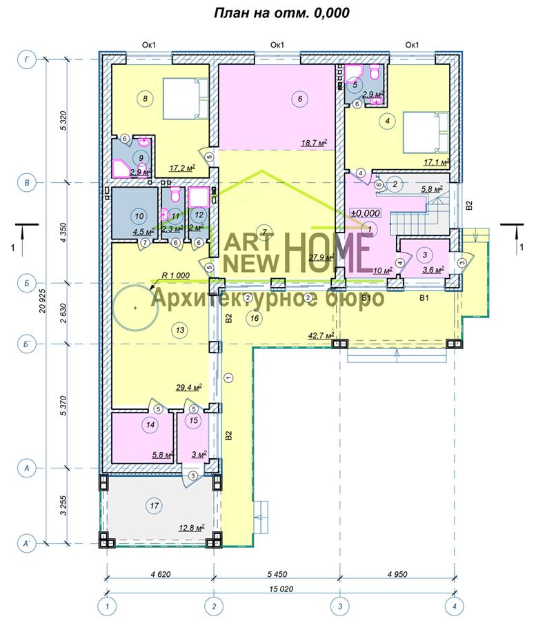 План 1 этажа Северный