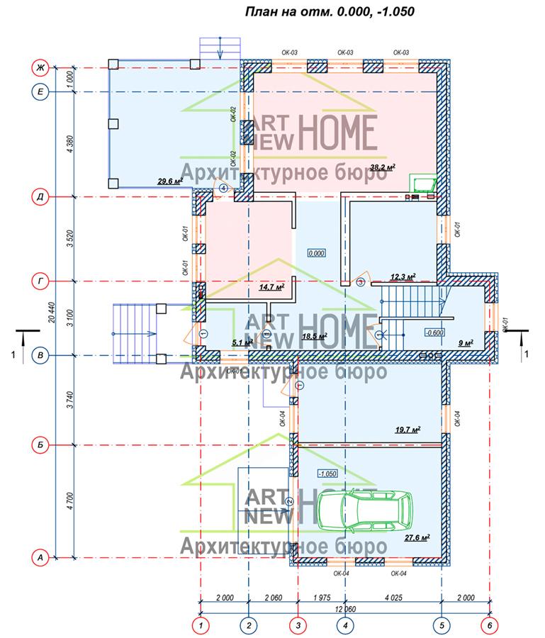 План 1 этажа Ямищево