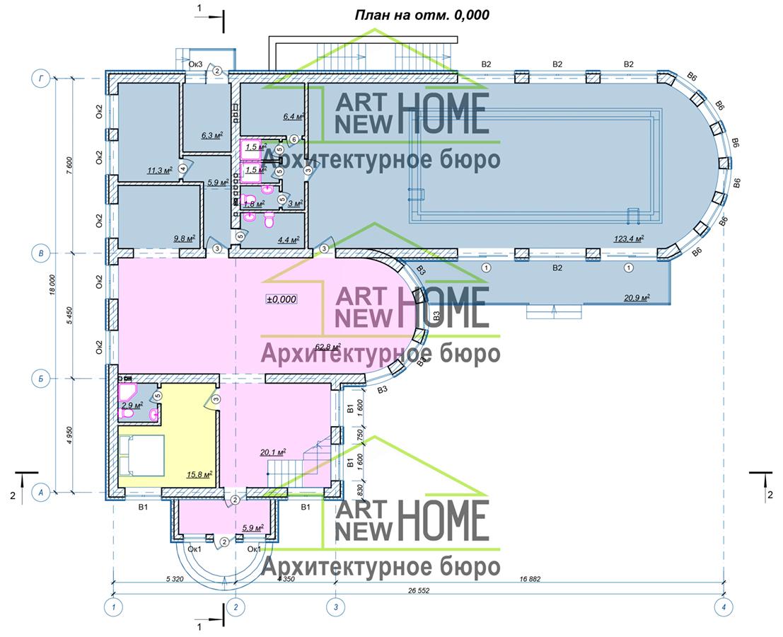 План 1 этажа Переделкино