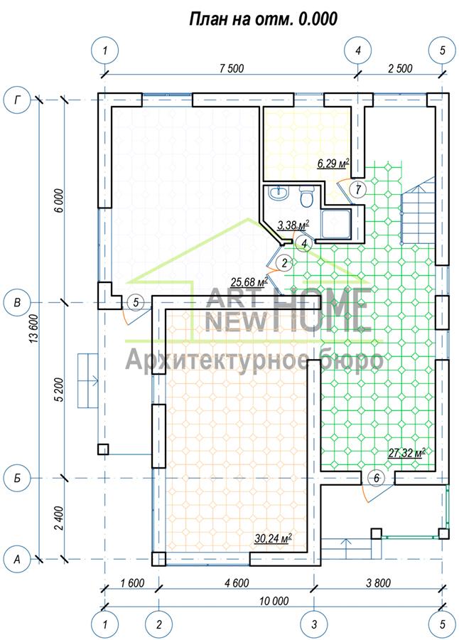 План 1 этажа Осоавиахима