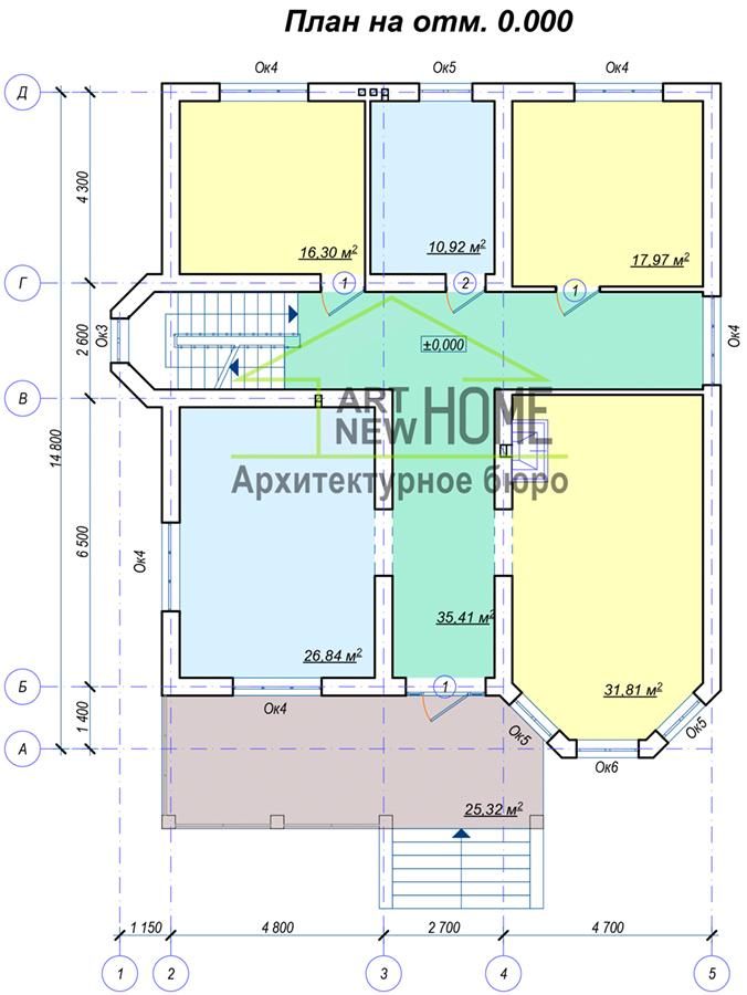 План 1 этажа Рязаново