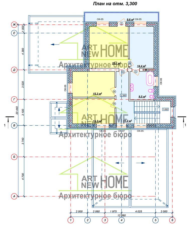 План 2 этажа Ямищево