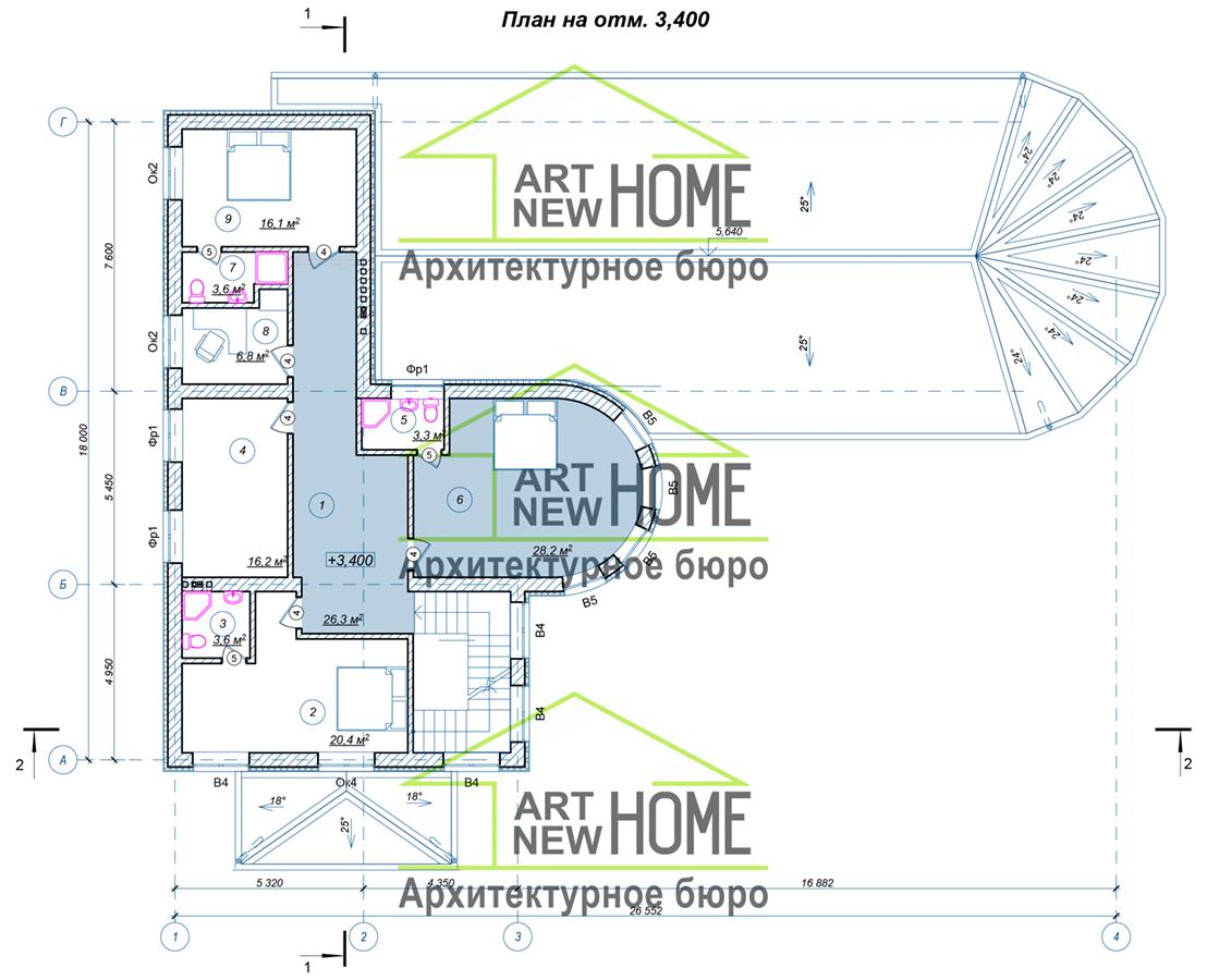 План 2 этажа Переделкино