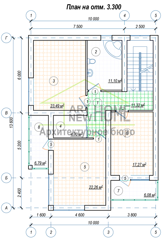План 2 этажа Осоавиахима