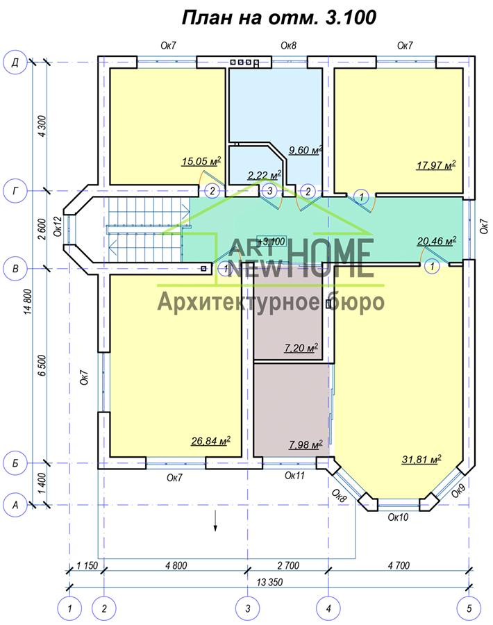 План 2 этажа Рязаново