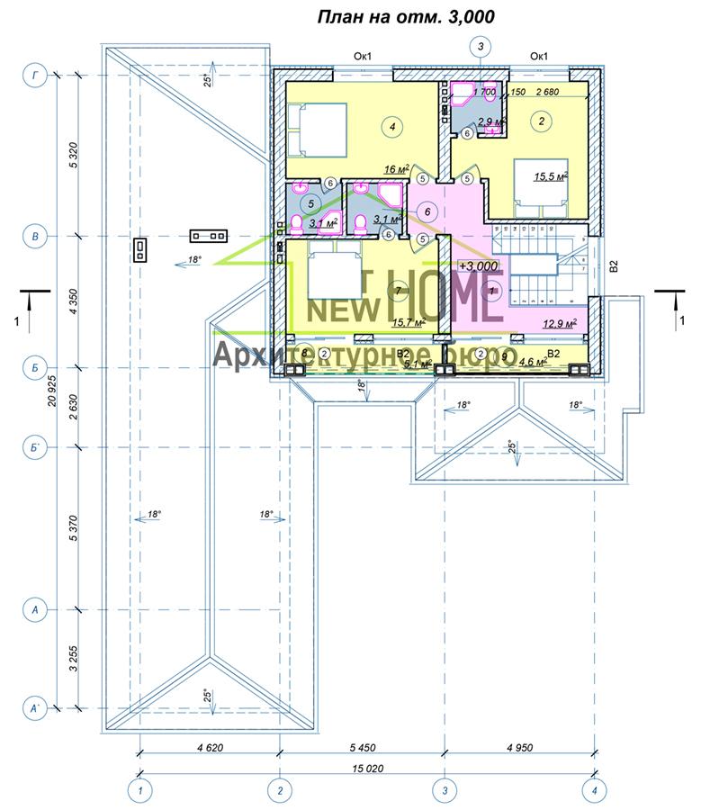 План 2 этажа Северный