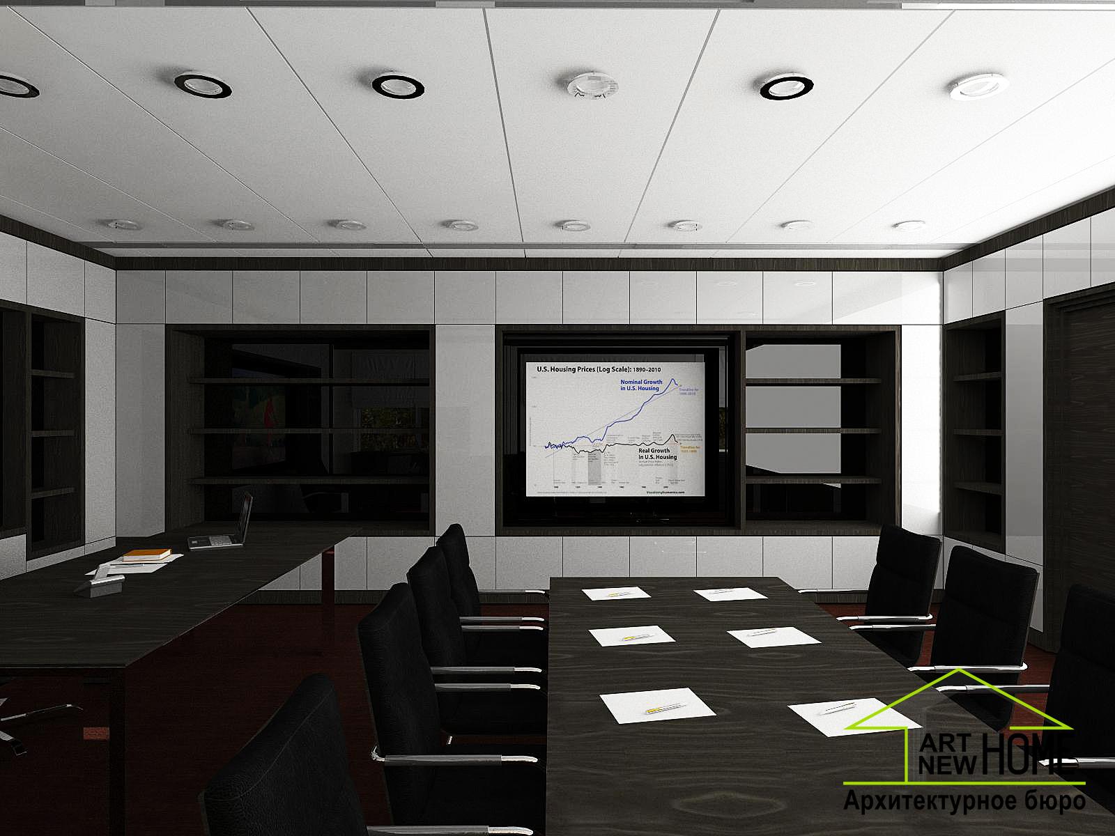Дизайн проект кабинет директора банка фото 1