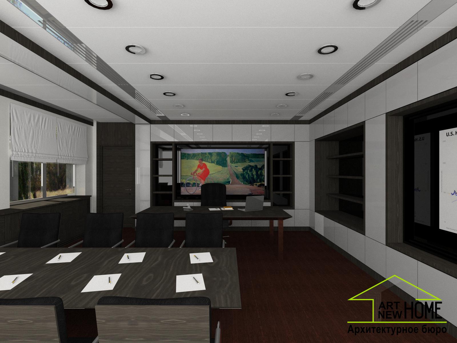 Дизайн проект кабинет директора банка фото 2