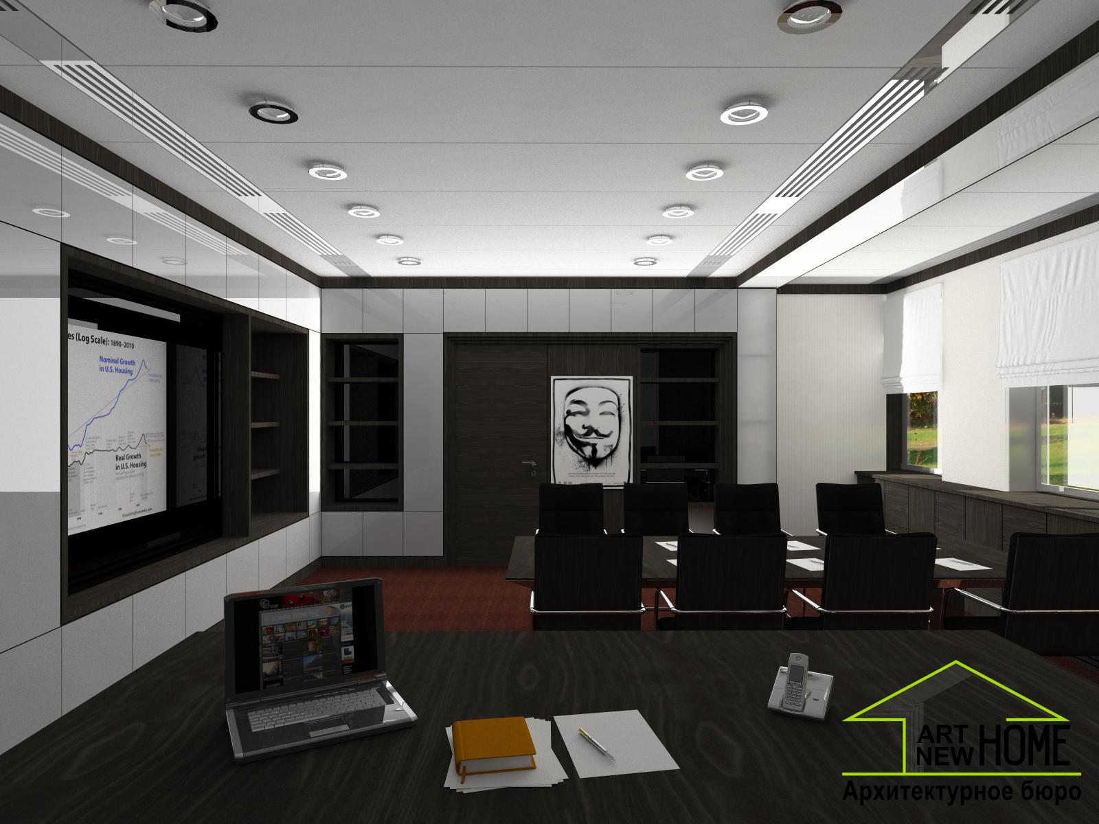 Дизайн проект кабинет директора банка фото 3