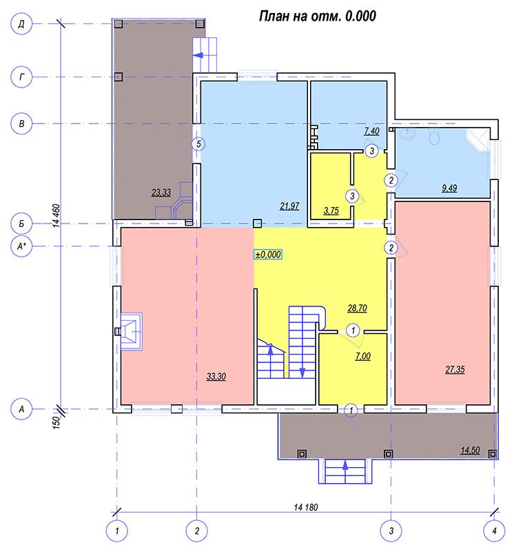 План 1 этажа Фисанова