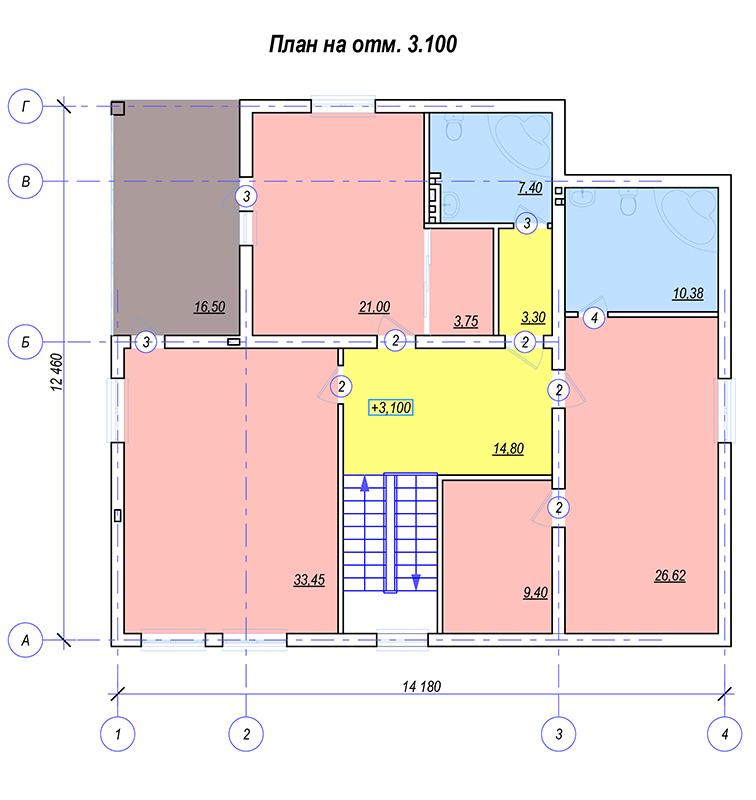 План 2 этажа Фисанова