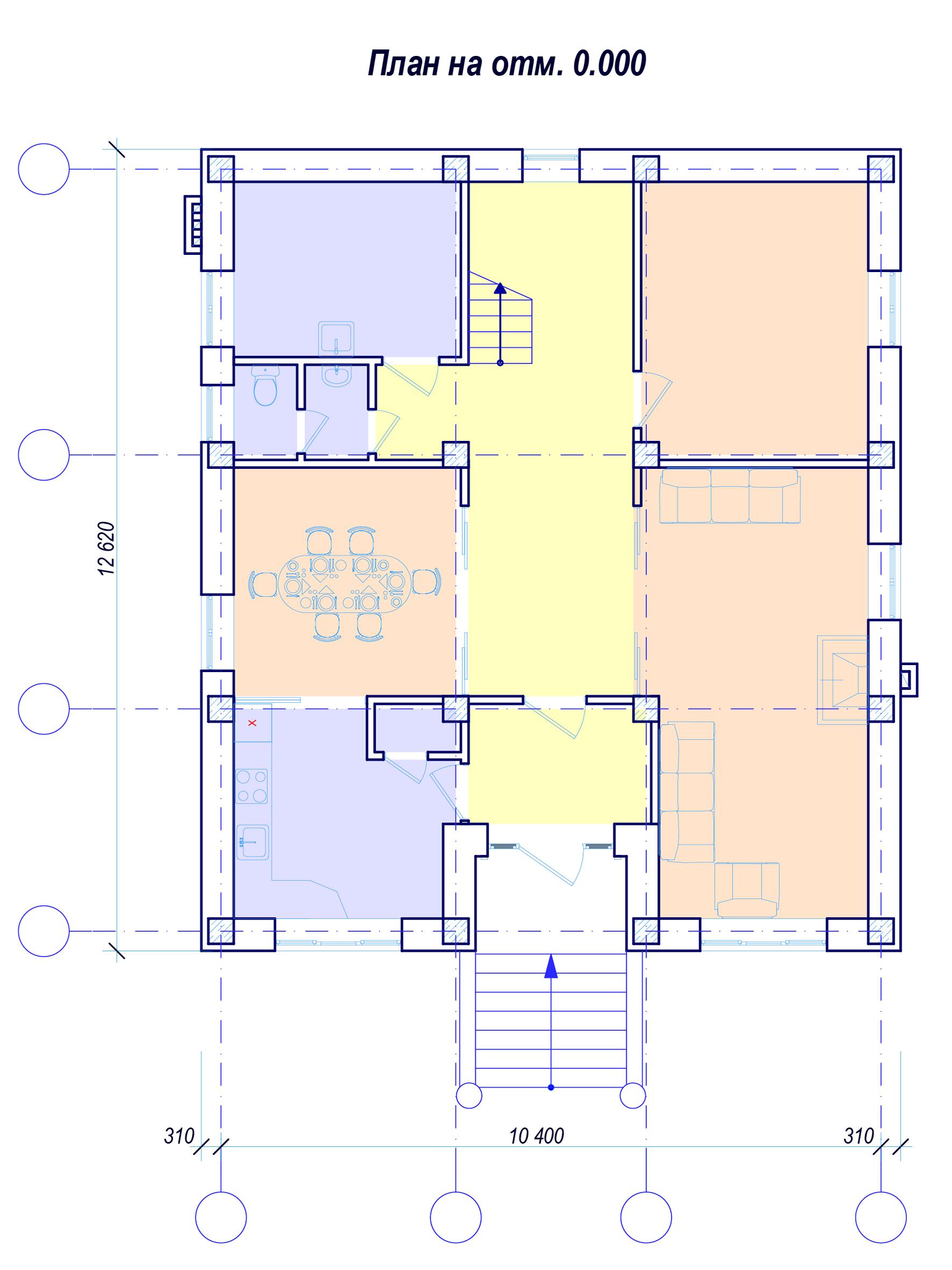План 1 этажа Красноармейская