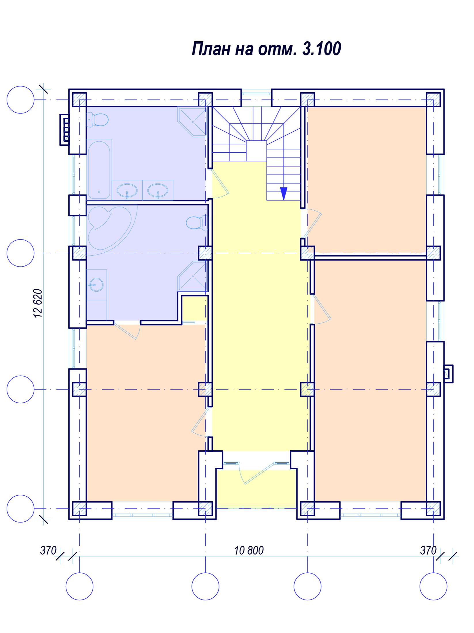 План 2 этажа Красноармейская