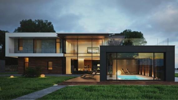 Фасадные решения в стиле ХАЙ-ТЕК