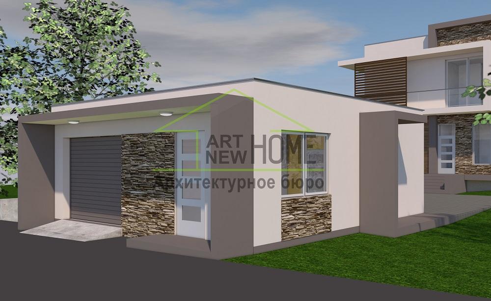 Проект гараж Мысхако фото 1