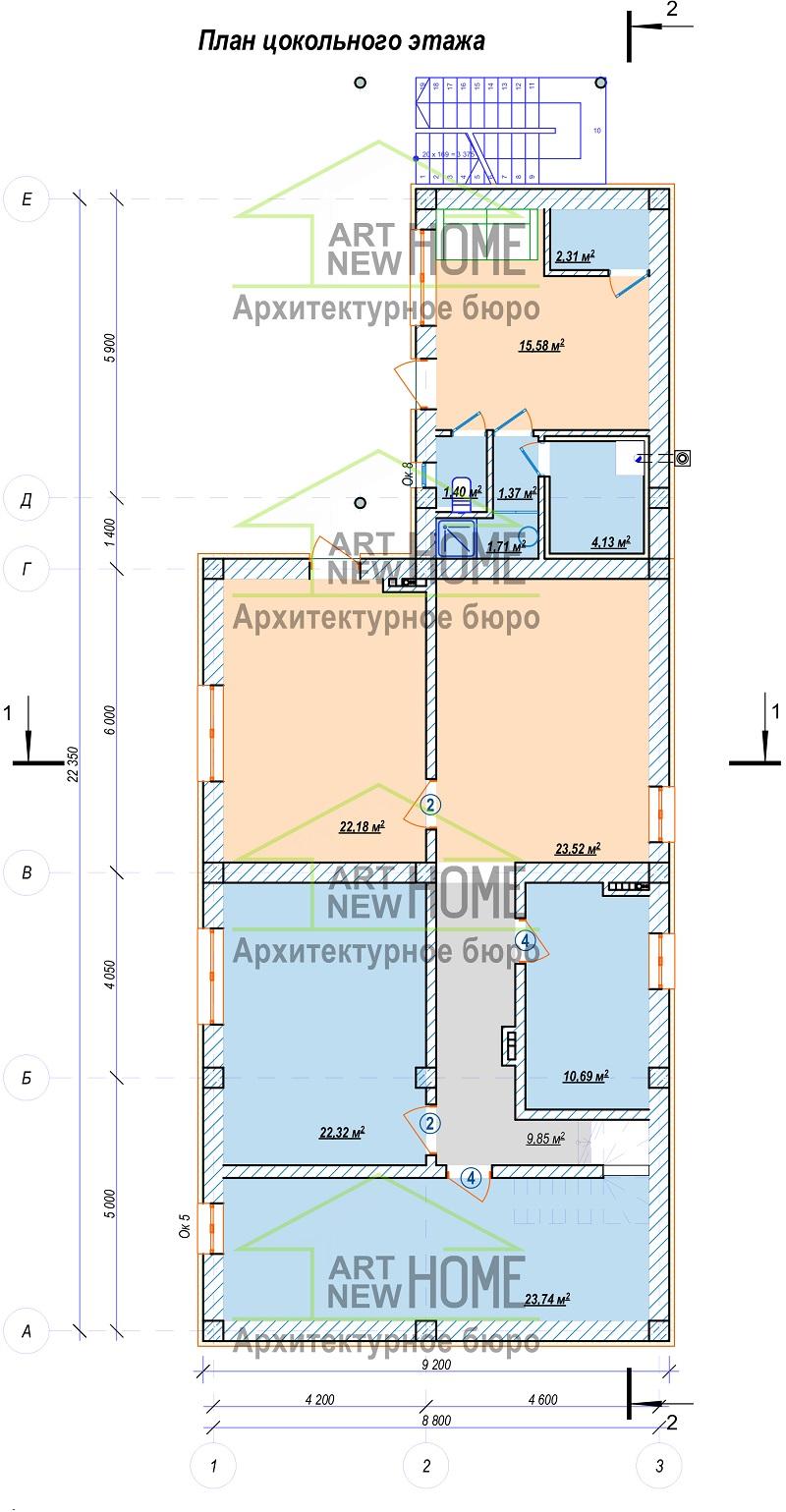 План цокольного этажа Мысхако