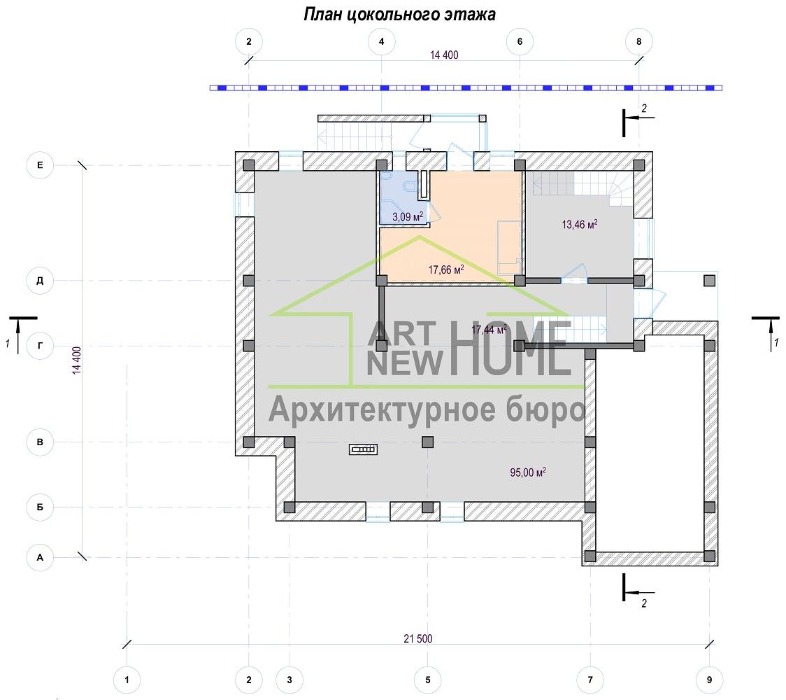 План цокольного этажа Баковка
