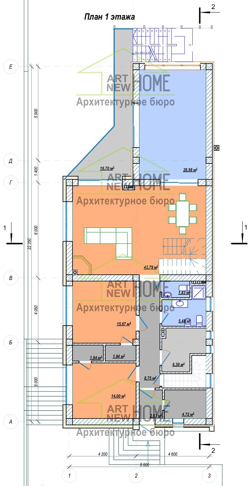 План 1 этажа Мысхако