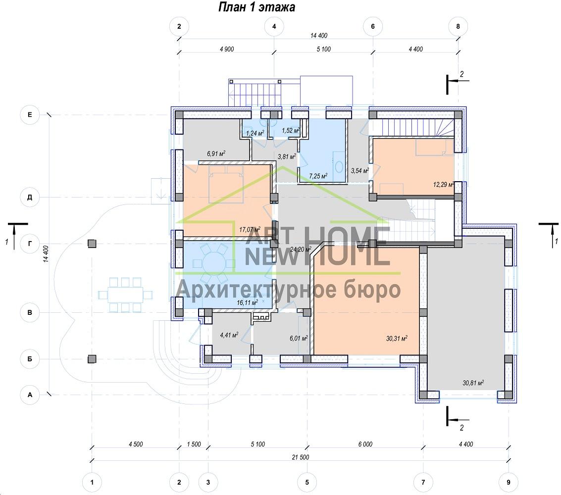 План 1 этажа Баковка