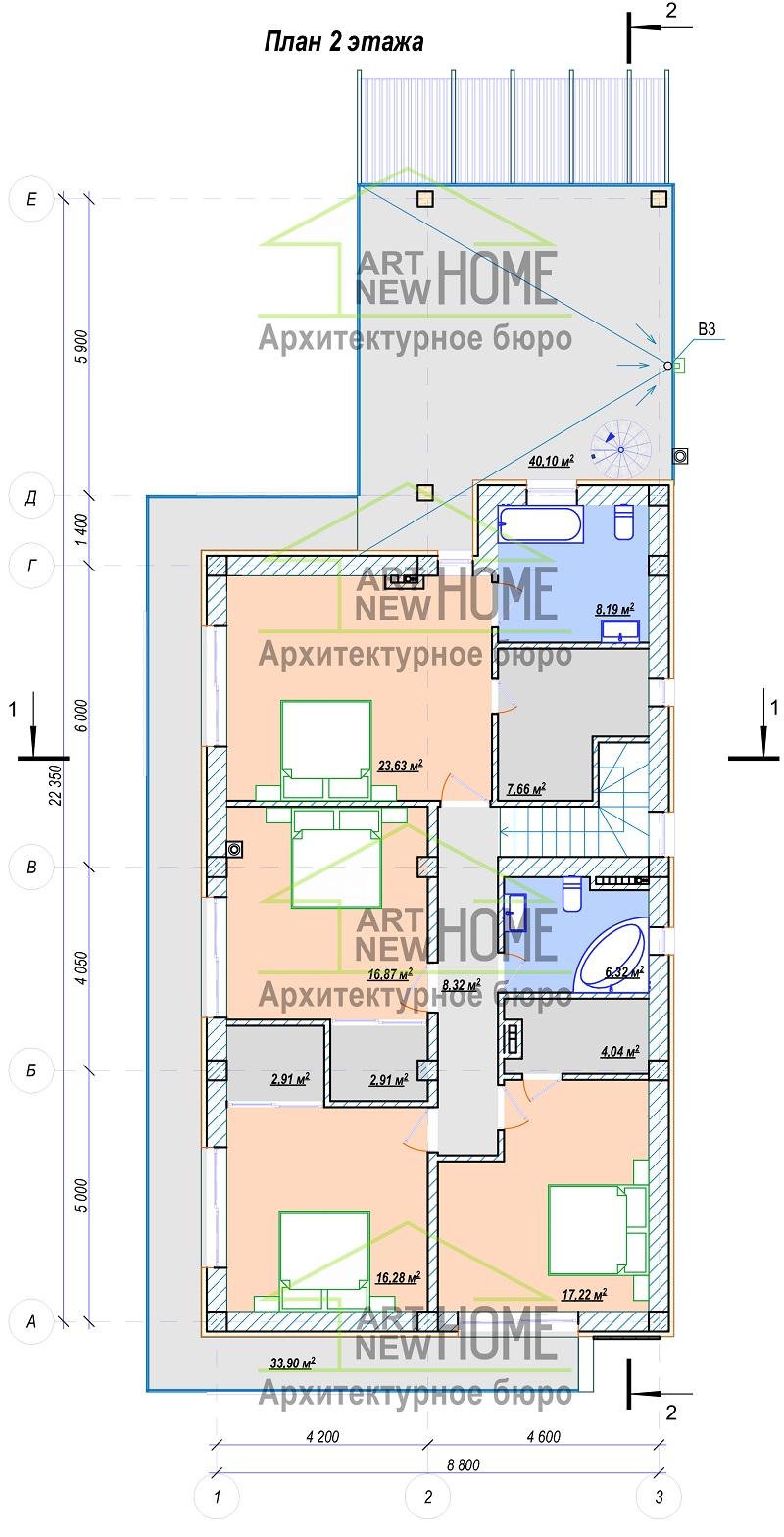План 2 этажа Мысхако