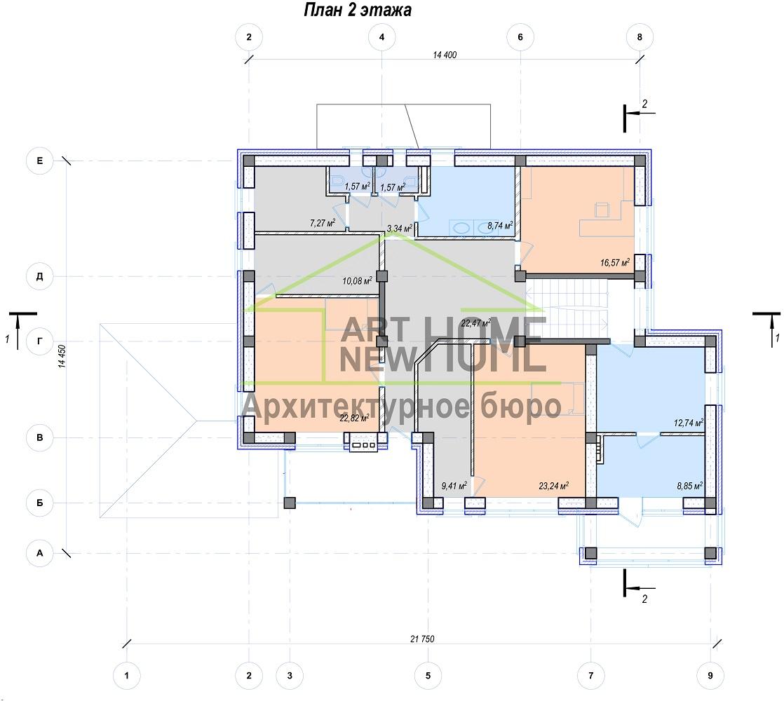 План 2 этажа Баковка