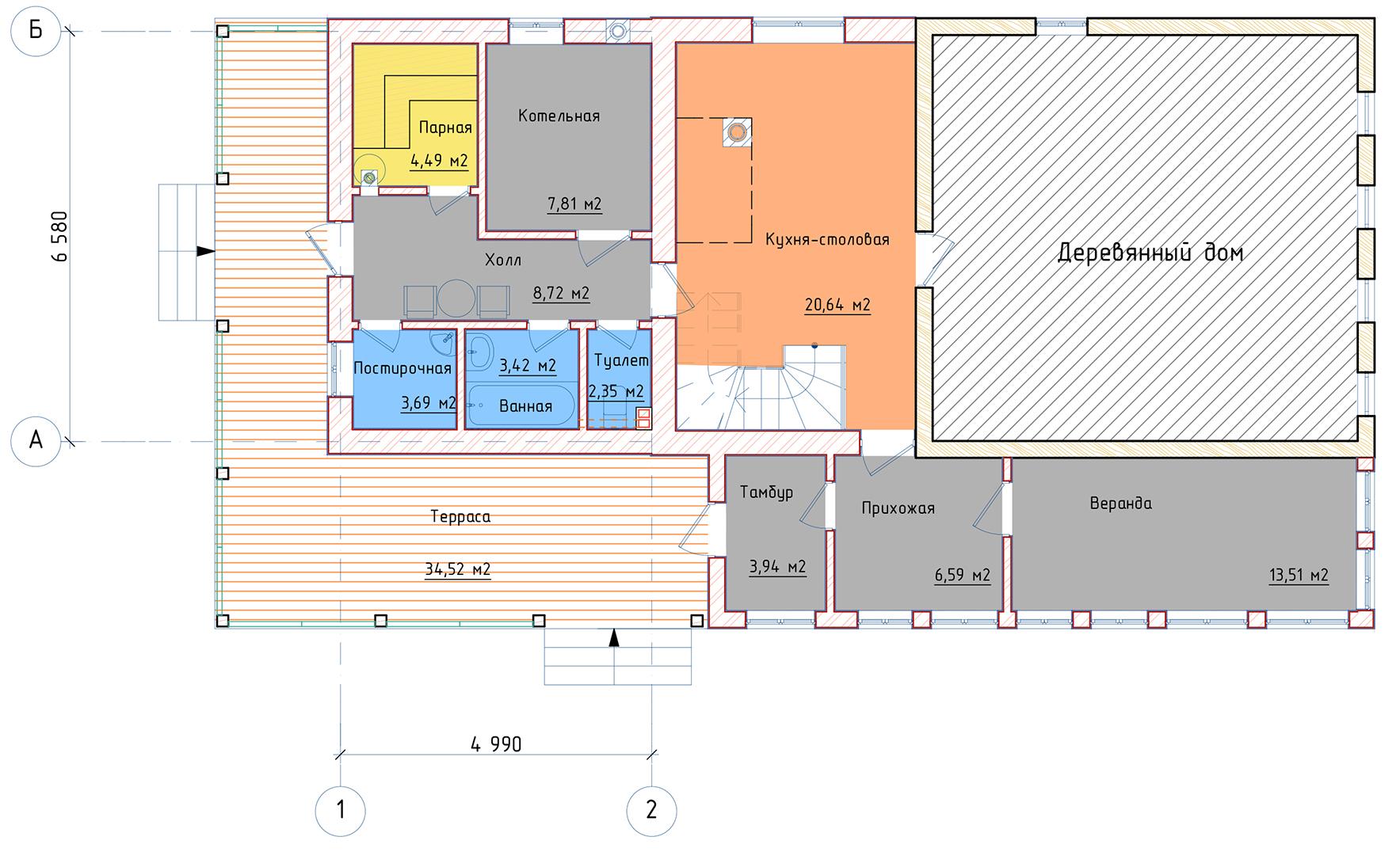 План 1 этажа с.Осташево