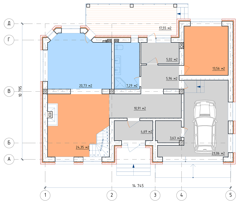 План 1 этажа Ашукино