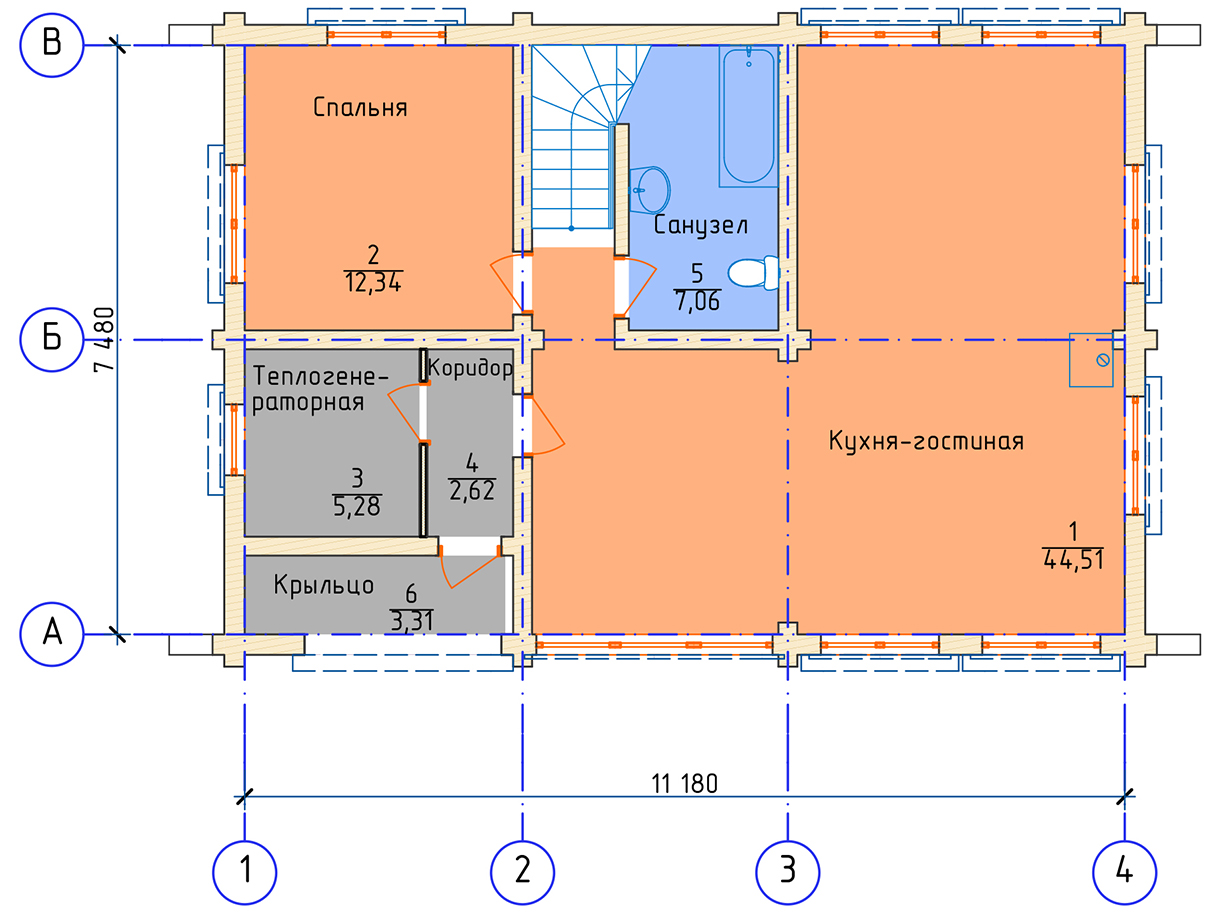 План 1 этажа СНТ Ленинградец