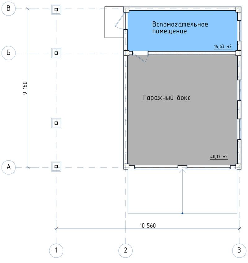 План гаража