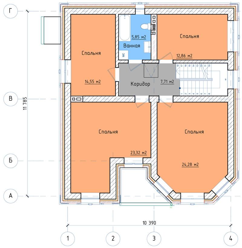 План 1 этажа ДНП Прудки