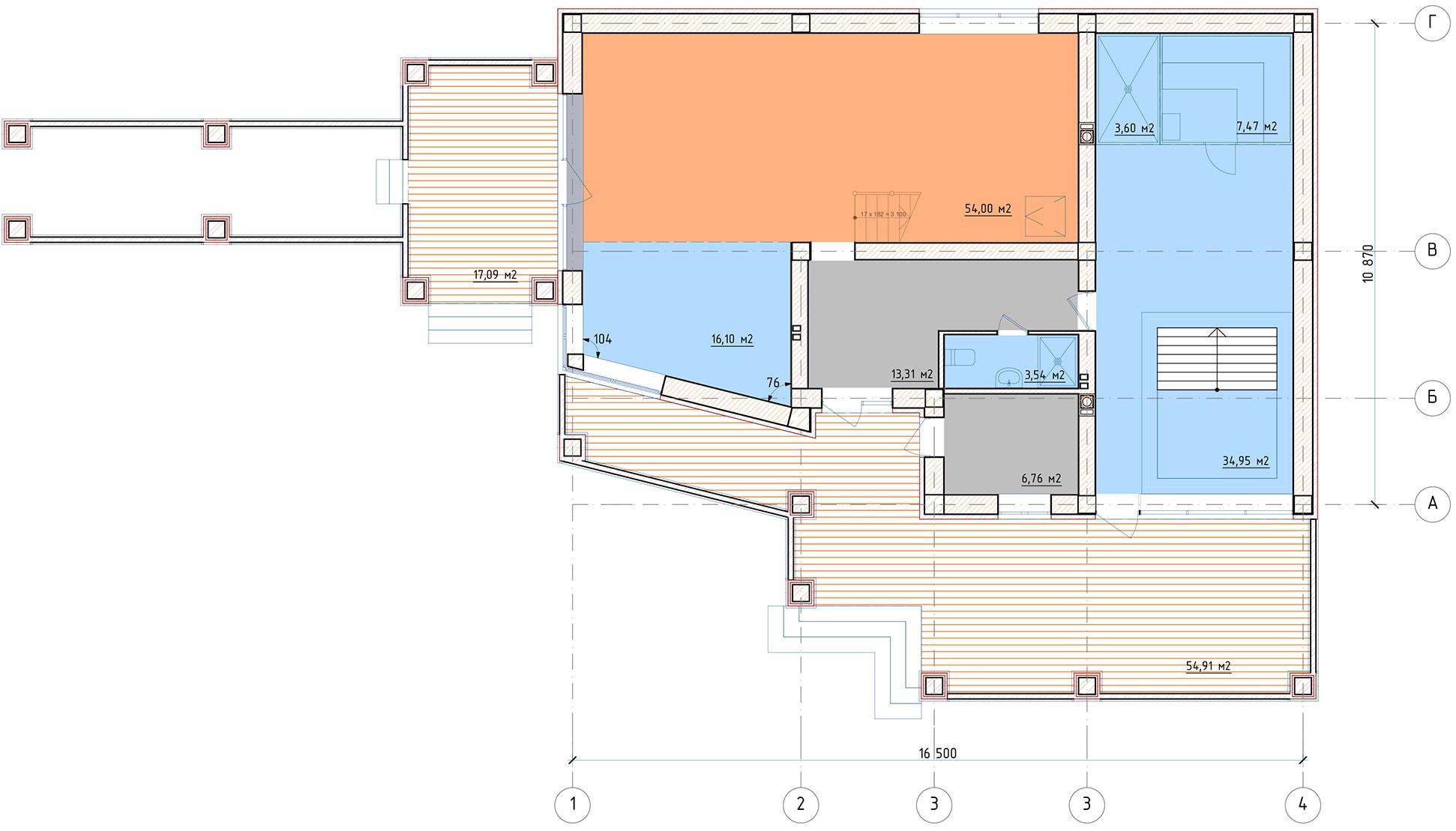 План 1 этажа Ногинск-дом