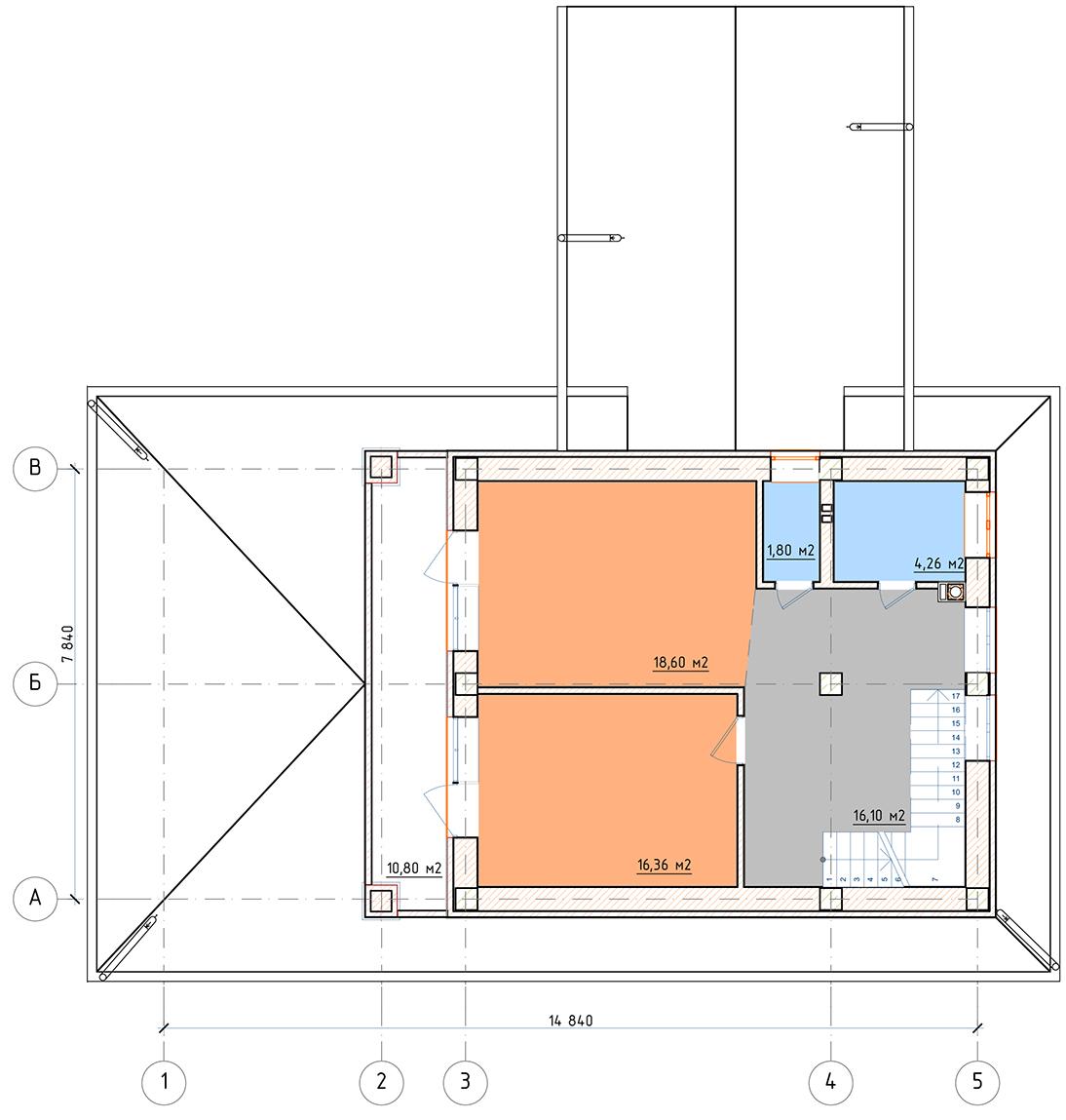 План 2 этажа Ногинск-гараж