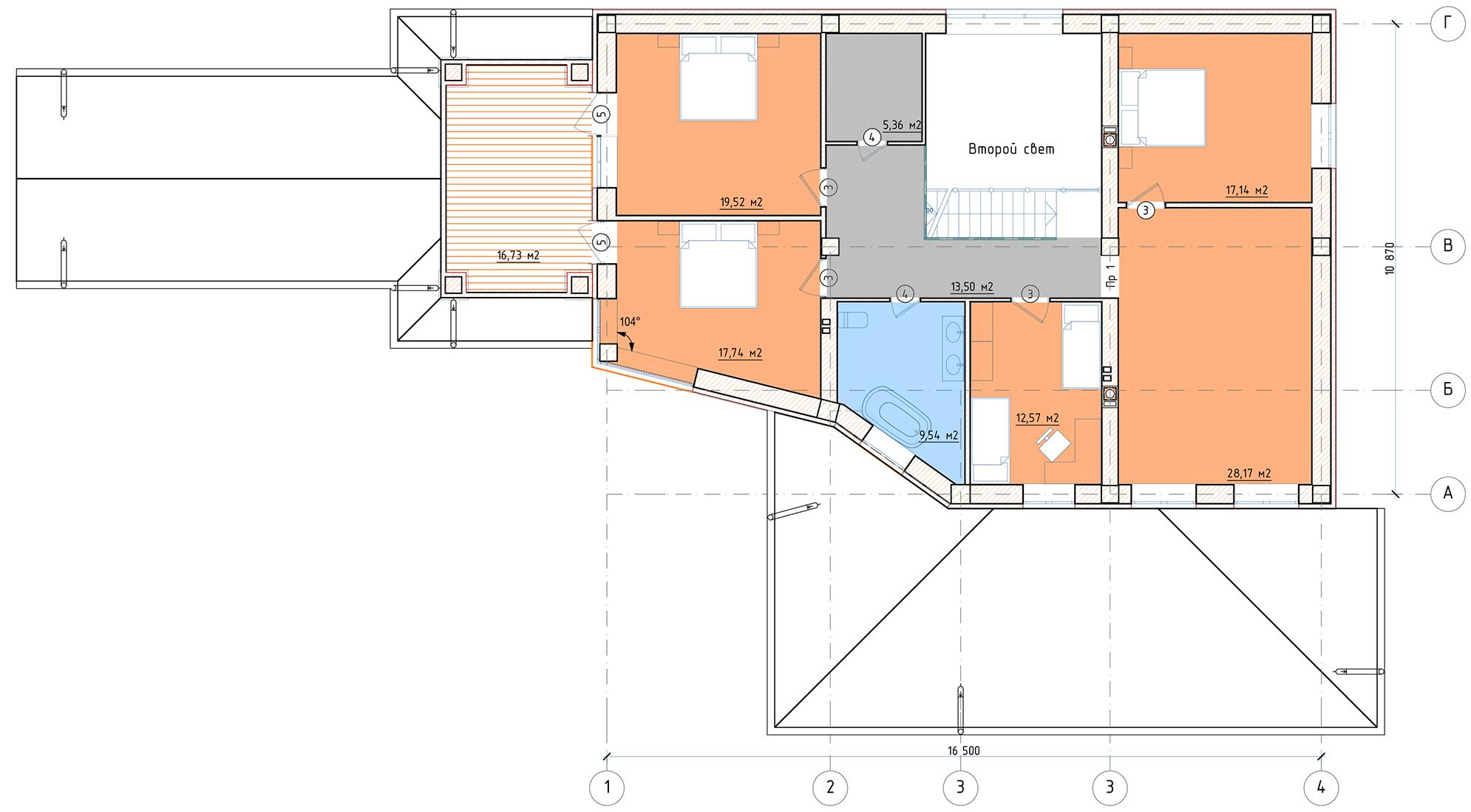 План 2 этажа Ногинск-дом