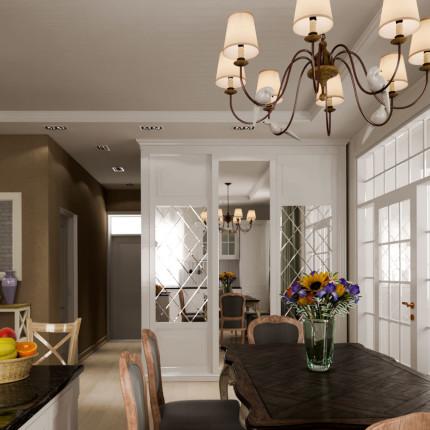 Дизайн кухни-гостиной вид 3
