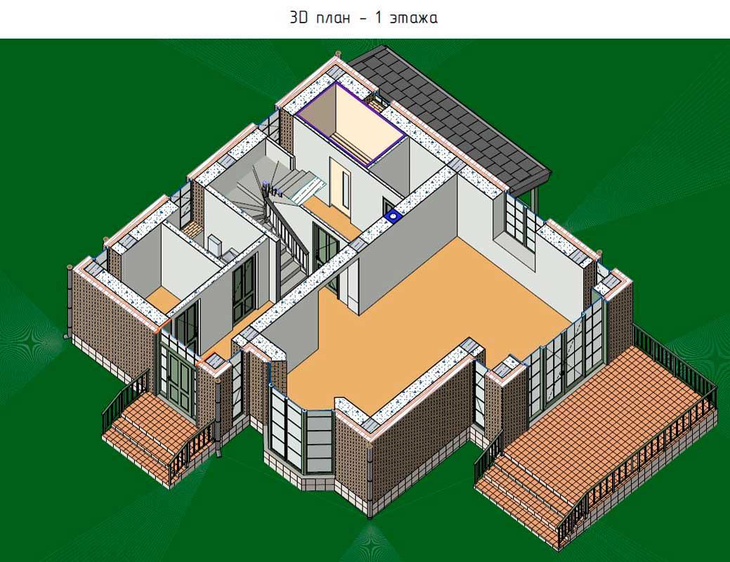 План 1 этажа п. Петрово-Дальнее