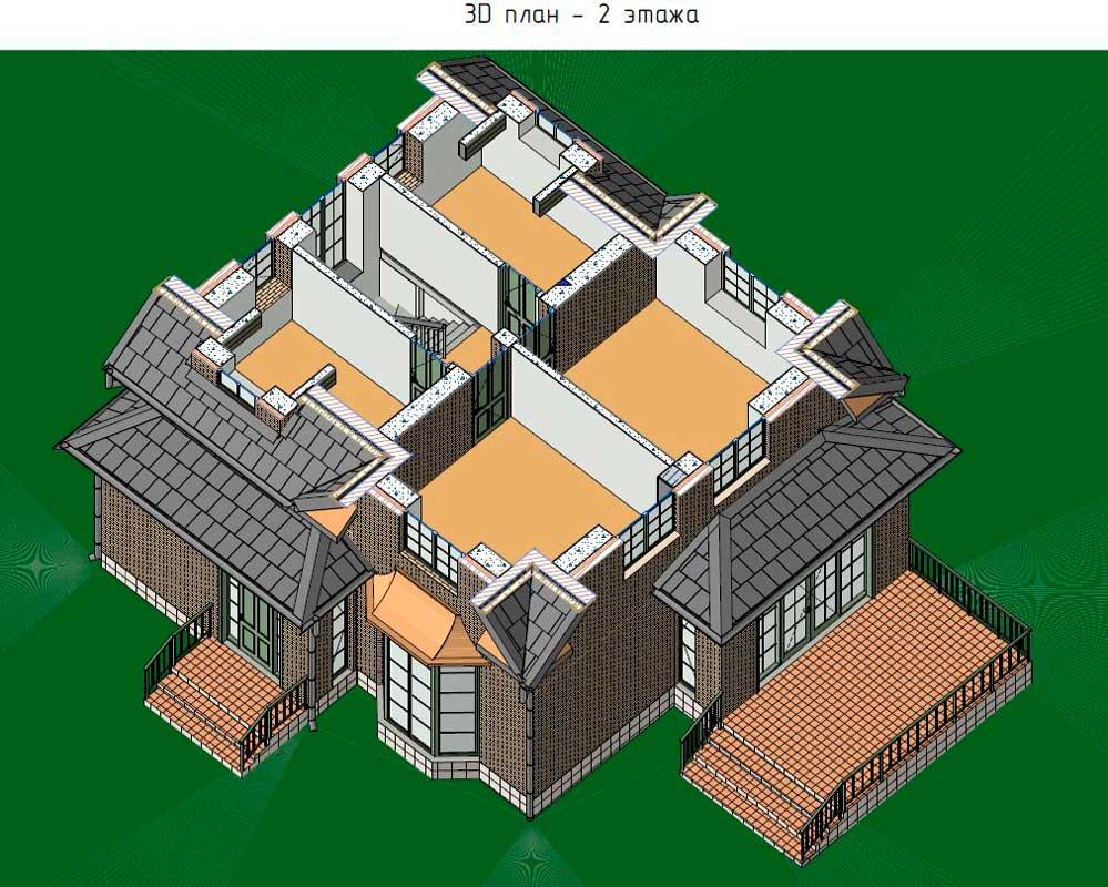 План 2 этажа п. Петрово-Дальнее