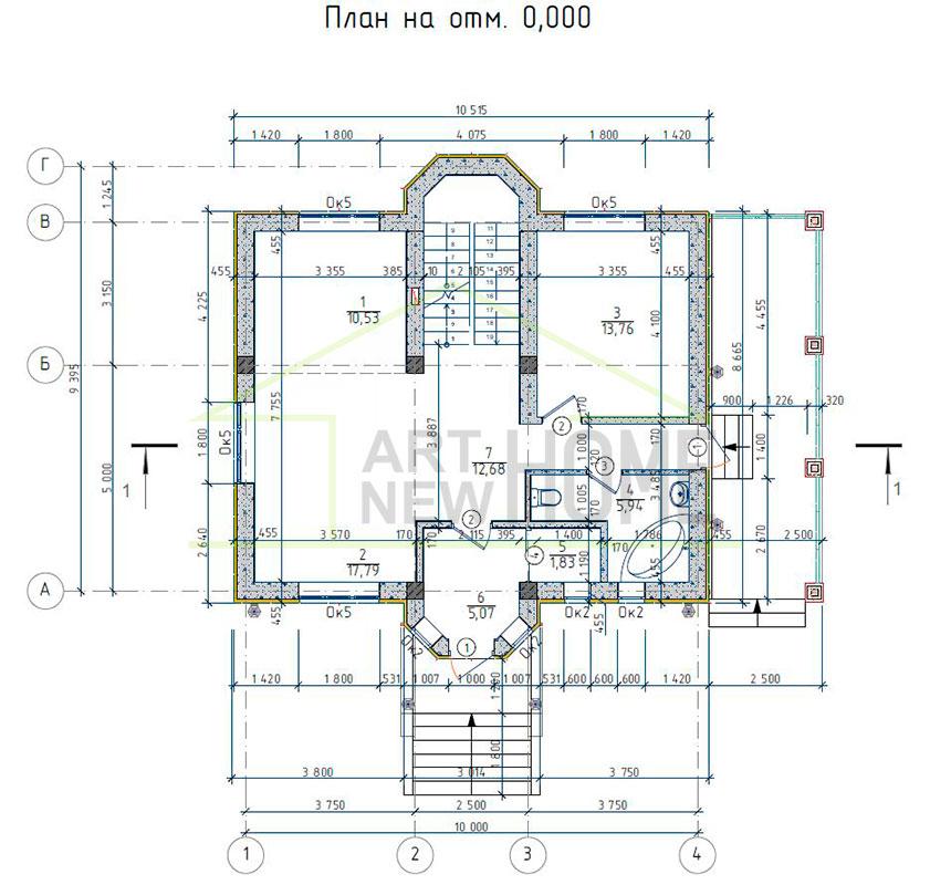 План 1 этажа д. Соврасово
