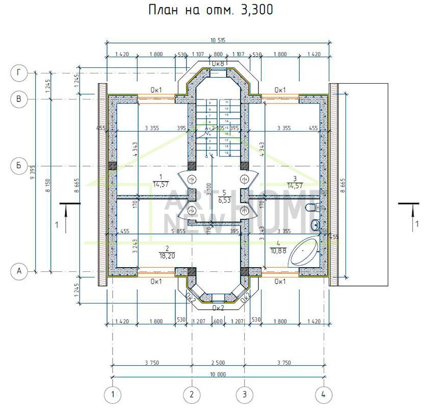 План 2 этажа д. Соврасово