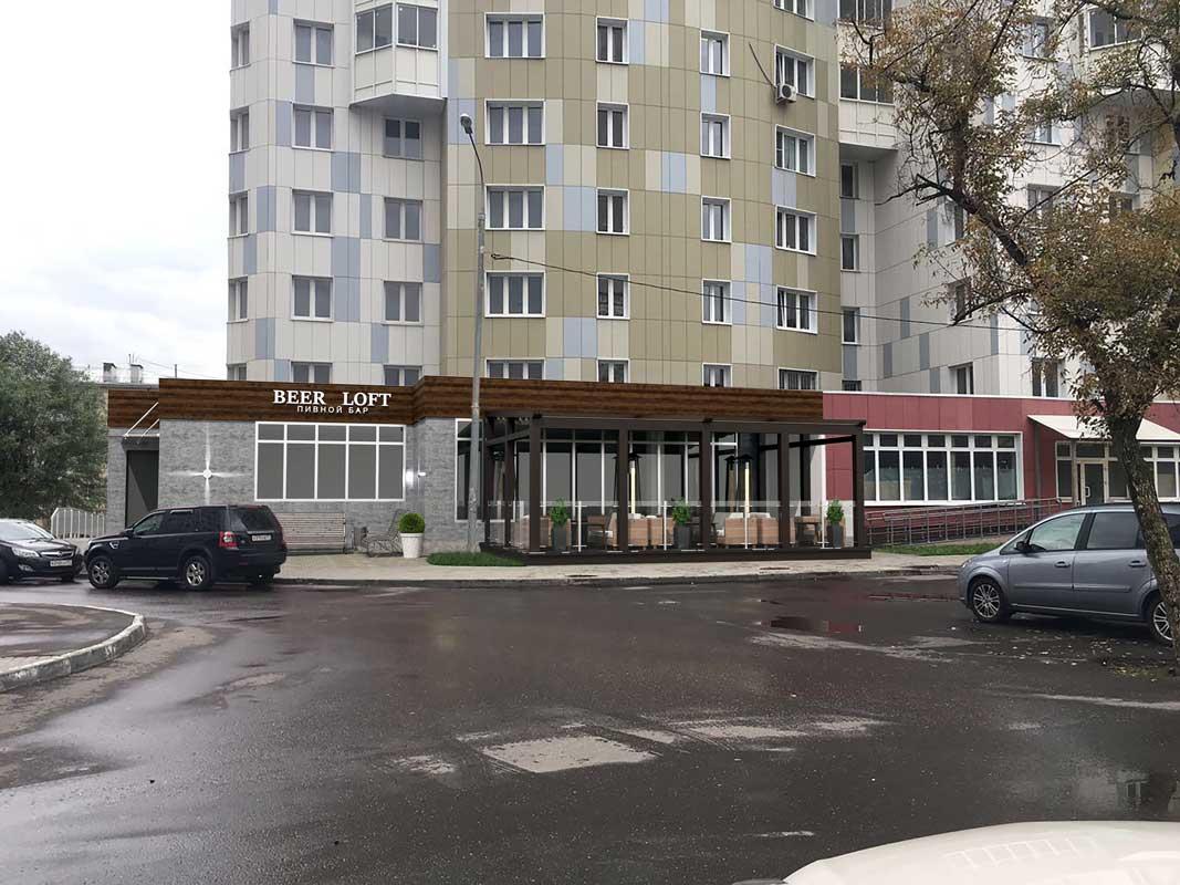 Проект Летнее кафе Мневники фото 1