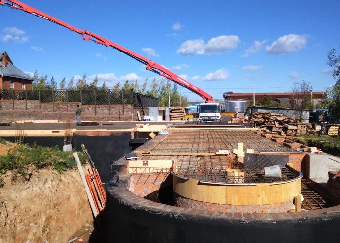 бетонирование плит перекрытий